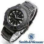 スミス&ウェッソン Smith & Wesson スイス トリチウム ミリタリー腕時計 SWISS TRITIUM DIVER WATCH BLACK/BLACK [正規品] [送料無料] [ラッピング無料]