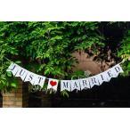 ショッピングウェディング 結婚式 記念写真 ウェディングガーランド JUST MARRIED ウェディングフォト ガーランド デコレーション ウェディングフォト 雑貨