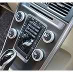高級感UP VOLVO ボルボ 調整 スイッチ ダイアル カバー エアコン オーディオ 4個 S60 V60 XC60 S60L S80L V40 送料無料
