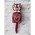 (送料無料)KITCAT KLOCKKITCAT-BC36キットキャットクロック バーガンディー掛け時計 猫 アメリカ ギフト 振り子時計 壁掛け 壁掛け時計 ネコ