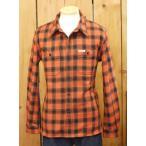 フラットヘッド ネルシャツ HN-64W チェックヘビーネルワークシャツ オレンジ