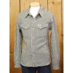 フラットヘッド ネルシャツ HNW-71W 千鳥ヘビーネルウエスタンシャツ アイボリー×グリーン