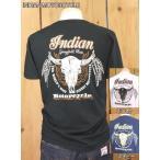インディアンモーターサイクル Tシャツ BONE & FEATHER Tシャツ IM77321 東洋エンタープライズ