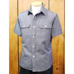 シュガーケーン 半袖シャンブレーワークシャツ ブルー SC35874A