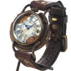 """古董手表 - ARKRAFT(アークラフト) 時計作家・新木秀和 手作り腕時計 """"Curtis jumbo """" ローマ数字 プレミアムストラップ [AR-C-002-RO]"""