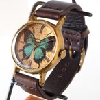 Gothic Laboratory(ゴシックラボラトリー) 手作り腕時計 青い蝶の腕時計 Lサイズ [GL-CW-bb-L]