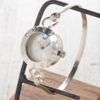 手作り腕時計 ハンドメイド 渡辺工房 Silver Armlet 3 レディースシルバー 12時スワロフスキー/ブレスレットタイプ