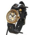 手作り腕時計 ハンドメイド 渡辺工房 裏スケルトン 手巻き式 メンズブラス ローマ数字/アンティーク調/スチームパンク