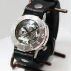 手作り腕時計 ハンドメイド 渡辺工房 手巻き式 裏スケルトン Explorer ジャンボシルバー/アンティーク調/スチームパンク