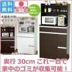ショッピング分別 分別 45リットル ペール ダストボックス ハイタイプ ( 国産 ごみ箱 ゴミ箱 木製 )