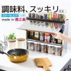 ピカピカなステンレス製調味料ラック 調味料ポット5個付き 日本製  スパイスラック