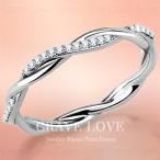 ツイスト デサイン レディース ステンレス リング 指輪 | ジルコニア 華奢 細い 人気 ファッション ジュエリー 重ねづけにも