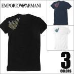 エンポリオアルマーニ Tシャツ メンズ Vネック EMPORIO ARMANI ATHLETICS BIG EAGLE