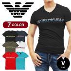 エンポリオ アルマーニ EMPORIO ARMANI Tシャツ メンズ Vネック 半袖  ブランド ロゴ