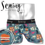 シーング Seaing ボクサーパンツ メンズ 下着 おしゃれ アンダーウェア ツルツル かわいい ロゴ 前閉じ ブランド プレゼント