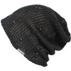 大きいサイズ 帽子 メンズ ニット帽子 ダメージメッシュ リバーシブル  ブラック ベージュ