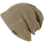 大きいサイズ 帽子 メンズ ニット帽子 ダメージメッシュ リバーシブル   ベージュ ブラウン
