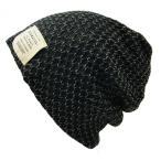 大きいサイズ 帽子 メッシュ リバーシブル MIXグレー BIGWATCH ニットキャップ