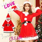 ショッピングコスプレ サンタ コスプレ レディース 安い サンタコス サンタ衣装 大きいサイズ 長袖 帽子 ワンピース 赤 レッド