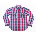 WAREHOUSE[ウエアハウス] ネルシャツ E柄 3095 フランネルシャツ FLANNEL SHIRTS (レッド)
