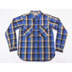 WAREHOUSE[ウエアハウス] ネルシャツ D柄 3104 フランネルシャツ FLANNEL SHIRTS (ブルー)