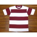 WAREHOUSE[ウエアハウス] Tシャツ 半袖 4インチボーダーTシャツ 4052 (レッド×オフホワイト)