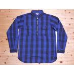 DUBBLE WORKS[ダブルワークス] ネルシャツ ハーフジップ (BLUE)