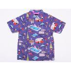 Dry Bones[ドライボーンズ] オープンシャツ VACATION 半袖 Print Open Shirt DS-2180 (GRAY)