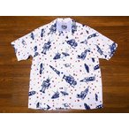 STAR OF HOLLYWOOD[スターオブハリウッド] オープンシャツ SH37591 SPACE ROCKETS by VINCE RAY 半袖 オープンカラーシャツ (オフホワイト)