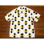 STAR OF HOLLYWOOD[スターオブハリウッド] オープンシャツ ARGYLE SH37593 アーガイル 半袖 オープンカラーシャツ (オフホワイト)