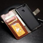 【レビュー記入で送料無料 メール便発送】 HUAWEI P9 lite 専用レザーケース 手帳型 ストラップ付け 全6色 (Huawei P9 lite ケース Case カバー Cover PU)