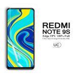 (送料無料) Redmi Note 9S 用液晶保護フィルム 全画面カバー TPU素材 (Xiaomi Redmi Note9S SIMフリー ケース Case)
