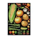 代引・同梱不可 デコシールA4サイズ 野菜アソート2 チョーク 40276