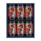 代引・同梱不可 やま磯 海苔ギフト 宮島かき醤油のり詰合せ 宮島かき醤油のり8切32枚×6本セット