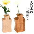 一輪挿し 花瓶 木 ガラス 花器 試験管花瓶 Ivy