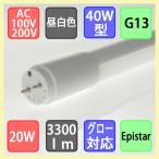 LED蛍光灯 直管40WタイプMCPET搭載して3300lmの高輝度 昼白色