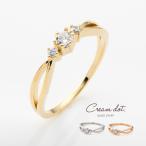 リング 指輪 ビジュー 華奢 15号 17号 シンプル ゴールド シルバー ピンクゴールド デイリー 結婚式 ゆうパケット送料無料