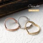 指輪 リング 重ね着け 隠れハートモチーフ 9号 11号 13号 15号 17号 ゴールド シルバー 細身 華奢ゆうパケット送料無料