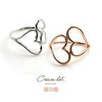 リング  指輪  ダブルハート  ハート  レディース  シルバー  ゴールド  ワイヤー  シンプル  細身  華奢  結婚式ゆうパケット送料無料