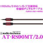 オーディオテクニカ AT-RS90MT/2.0 192kHz/24bitハイレゾ音源対応 オプティカルデジタルケーブル