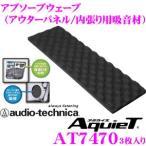 【在庫あり即納!!】オーディオテクニカ AT7470 AquieT(アクワイエ) アブソーブウェーブアウターパネル/内張り用吸音材