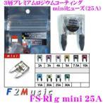 F2Music ATOヒューズ FS-R1g MINI 25A 3層プレミアムロジウムコーティング 高音質MINIヒューズ(ミニ平型ヒューズ)