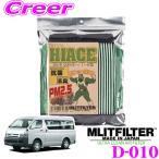 【在庫あり即納!!】MLITFILTER エムリットフィルター D-010 ハイエース/レジアスエース 専用エアコンフィルター