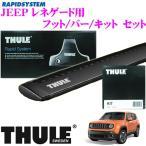THULE JEEP レネゲード (ルーフレール無し)用 ルーフキャリア取付3点セット