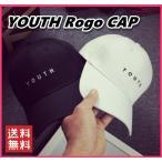 Cap - レディース キャップ 帽子 シンプル YOUTH ロゴ 韓国 ファッション カーブキャップ シンプル