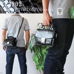 ミニダレスバッグ 2WAY ワニ柄 型押し ショルダーバッグ メンズバッグ 鍵付き あすつく