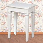 スツール チェア 姫系 輸入家具 白いカントリー  アンティーク
