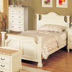 ベッド シングル 姫系 輸入家具 白いカントリー/シングルベッド