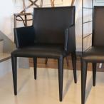 椅子 モダン 肘付き ダイニングチェア ブラックレザー dcpen2arm GMK-dc