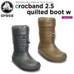 ショッピングcrocband クロックス(crocs) クロックバンド2.5 キルテッド ブーツ ウィメン (crocband 2.5 quilted boot w)[C/C]